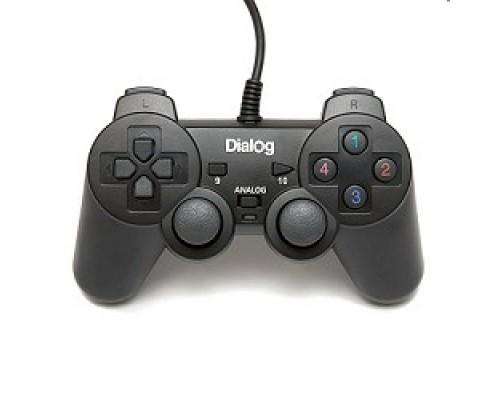 Dialog Action GP-A11, черный Геймпад, вибрация, 12 кнопок, USB