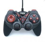 Dialog Action GP-A13, черно-красный , вибрация, 12 кнопок, USB