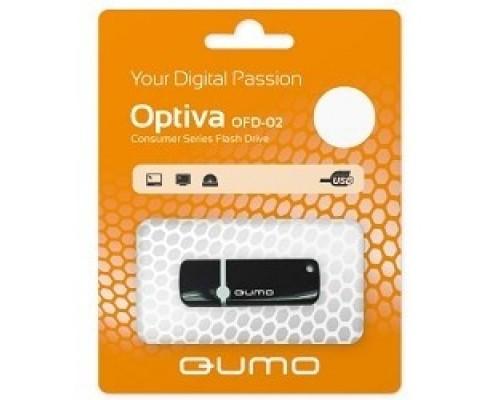 USB 2.0 QUMO 8GB Optiva 02 Black QM8GUD-OP2-black
