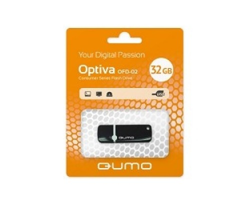 USB 2.0 QUMO 32GB Optiva 02 Black QM32GUD-OP2-black