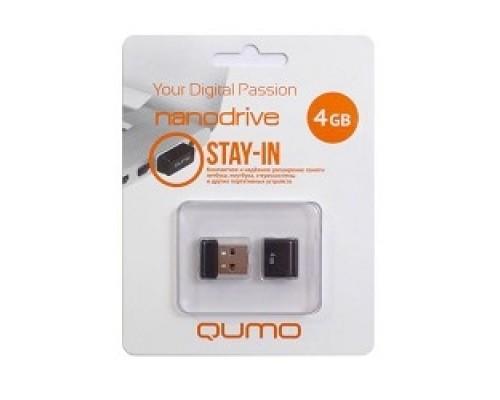 USB 2.0 QUMO 4GB NANO QM4GUD-NANO-B Black