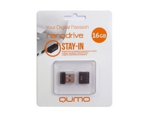 USB 2.0 QUMO 16GB NANO QM16GUD-NANO-B Black