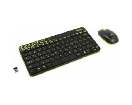 920-008213 Logitech Wireless Combo MK 240 Nano Black-yellow