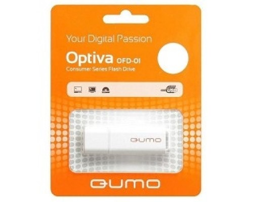 USB 2.0 QUMO 64GB Optiva 02 White QM64GUD-OP2-white