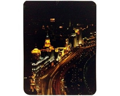 Коврик для мыши Buro BU-M80007 ночной город 817313