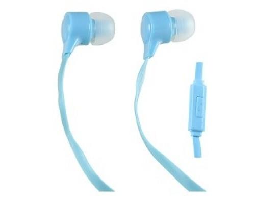 Perfeo наушники внутриканальные c микрофоном HANDY голубые PF-HND-AZR