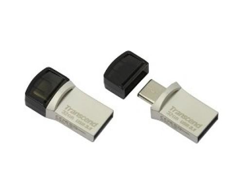 Transcend USB Drive 32Gb JetFlash 890 TS32GJF890S USB 3.0/3.1 + Type-C