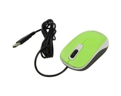 Мышь Genius DX-110 Green мышь оптическая, 1000 dpi, 3 кнопки+колесо прокрутки, провод 1,5 USB 31010116105