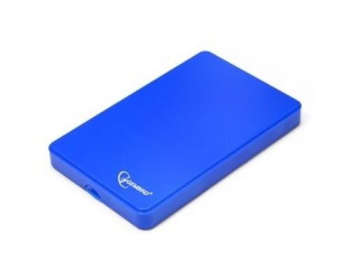 Gembird EE2-U2S-40P-B Внешний корпус 2.5 Gembird EE2-U2S-40P-B, синий, USB 2.0, SATA, пластик