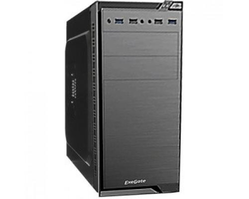 Exegate EX272749RUS Корпус Minitower Exegate QA-412U Black, mATX, <без БП>, 2*USB+2*USB3.0, Audio