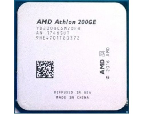 CPU AMD Athlon 200GE OEM (YD200GC6M2OFB) 3.2 GHz/2core/1+4Mb/SVGA RADEON Vega 3/35W/Socket AM4