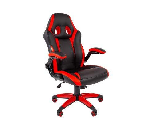 Офисное кресло Chairman game 15 Россия экопремиум черный/красный (7022777)