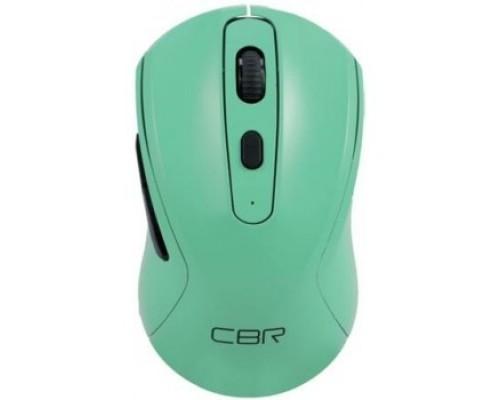 CBR CM 522 Mint, беспроводная, оптическая, 2,4 ГГц, 800/1200/1600 dpi, 6 кнопок и колесо прокрутки, технология бесшумный клик, ABS-пластик, цвет мятный