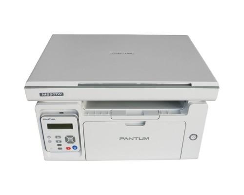 M6507W МФУ лазерное, монохромное, копир/принтер/сканер (цвет 24 бит), 22 стр/мин, 1200 x 1200 dpi, 128Мб RAM, лоток 150 стр, USB, Wi-Fi, серый корпус