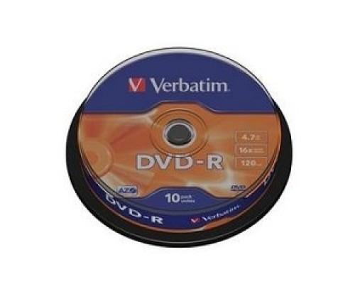 Verbatim и DVD-R 4.7Gb 16х, 10 шт, Cake Box (43523)