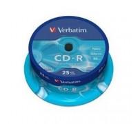 Verbatim и CD-R 25 шт. 52-x 700Mb, Cake Box (43432) 1/25